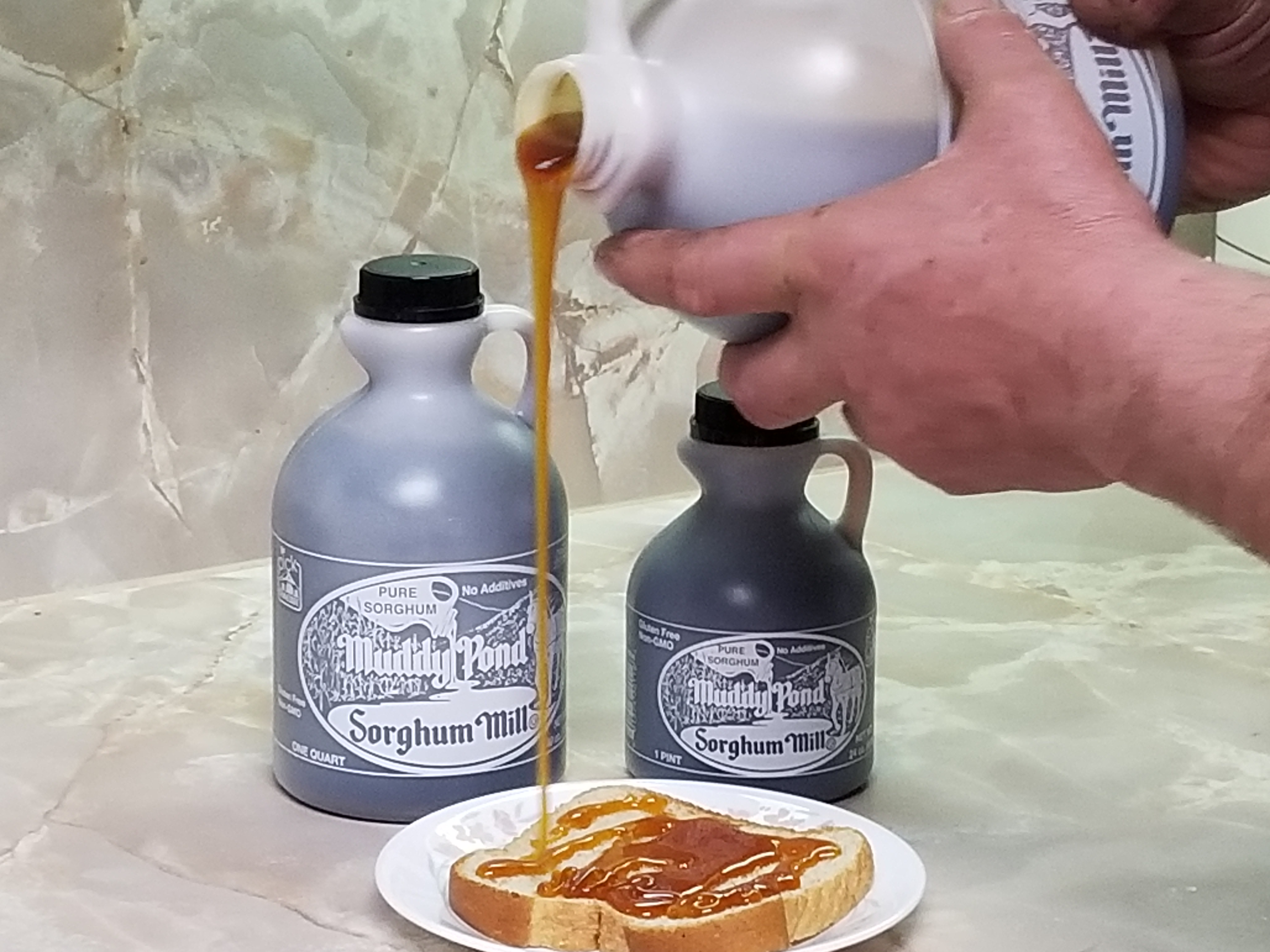 Sorghum Syrup on Bread